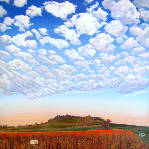 Available Acrylics - Until The Clouds Come Home, 24x24, $500
