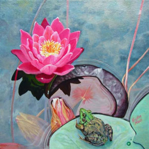 Available Acrylics - A Lily Pad Day, 12x12 $200