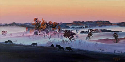 Available Acrylics - A Morning Meander, 12x24, $400