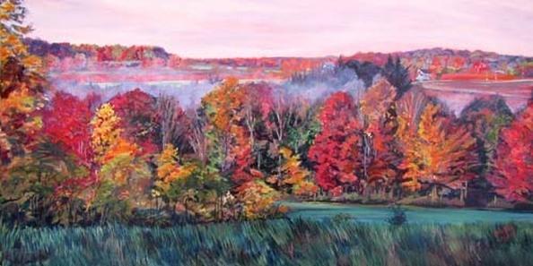 Archived Paintings - Autumn Rivermist, 12x24
