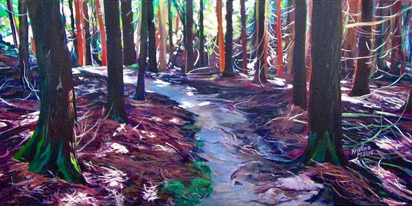 Available Acrylics - Cedar Secrets, 12x24, $400
