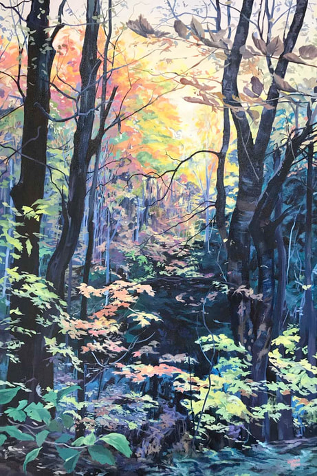 Available Acrylics - Journey Into The Woods, 24x36, $975
