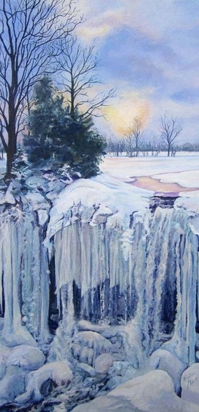Archived Paintings - Falling Indian Falls, 24x12