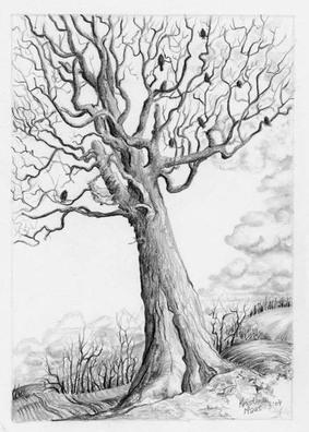 Landscapes & Still Life - Field Sentinel, 4x6, framed 10x12, $225