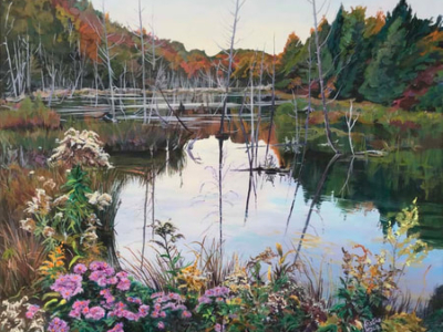Archived Paintings - Garden In The Glen, 16x20, Sold