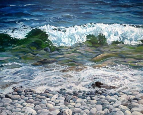 Archived Paintings - Halfway Wave, 24x30