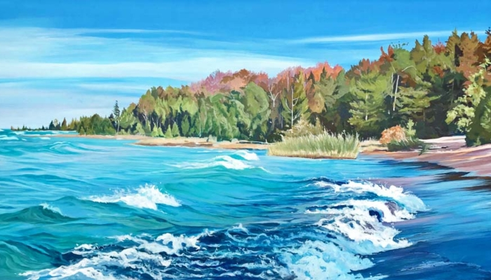 Archived Paintings - Hear The Waves, 24x48.