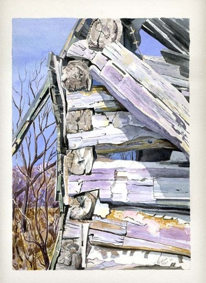 Available Watercolours - Home Sweet Home, 7x10 framed, $275