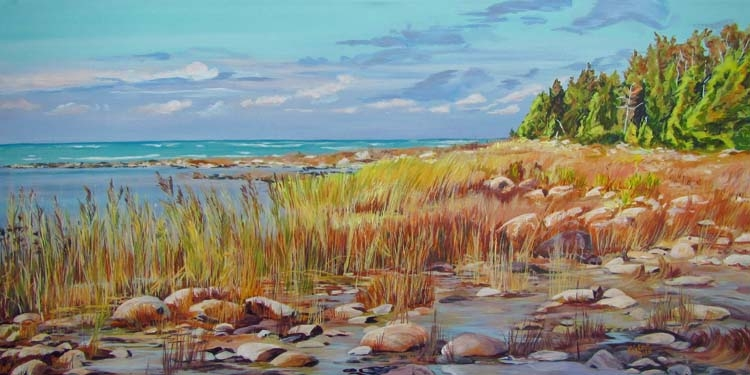 Archived Paintings - Gold Coast Huron Breezes, 18x36