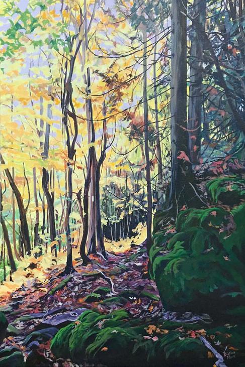 Available Acrylics - Into Sunlight, 24x36, $975