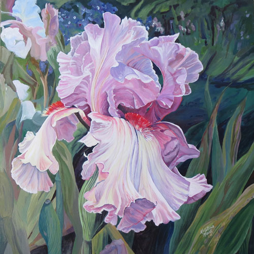 Archived Paintings - Iris Waves, 24x24