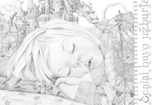 Illustrations -Kelsey, Long Ago There Was An Enchanted… 15x24