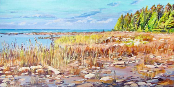 Archived Paintings - Looking North 12x24
