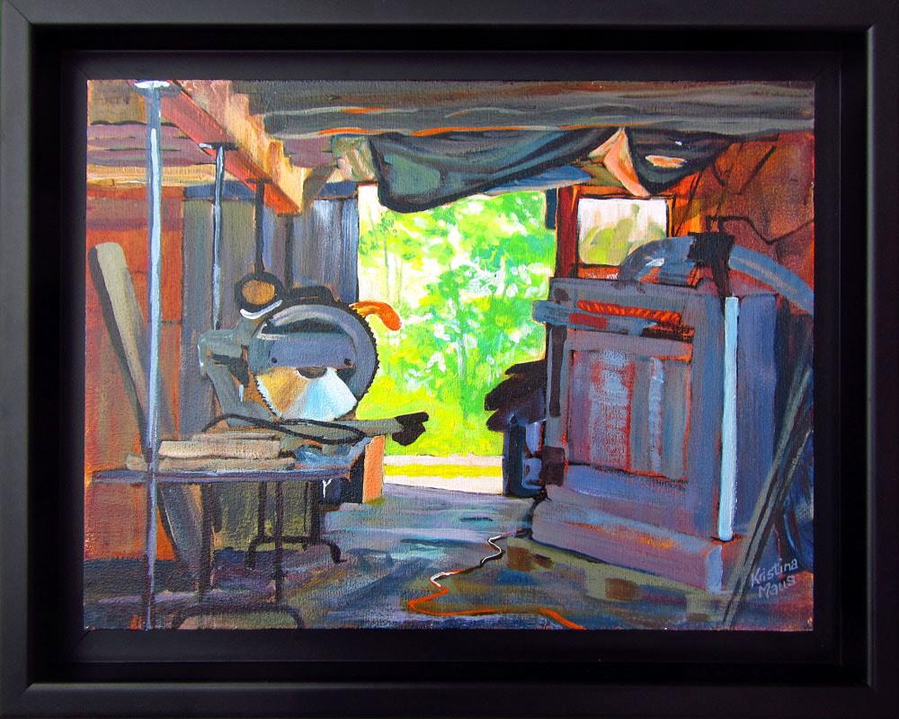 Available Acrylics - Open Door, 15x12, Acrylic on Panel, Framed, $200