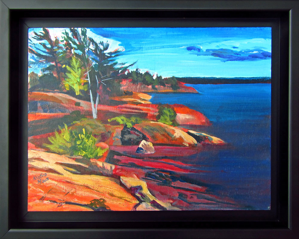 Available Acrylics - Outcroppings, 15x12, Acrylic on Panel, Framed, $180