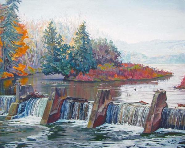 Available Acrylics - Dam Fine Morning, 16x20, $450