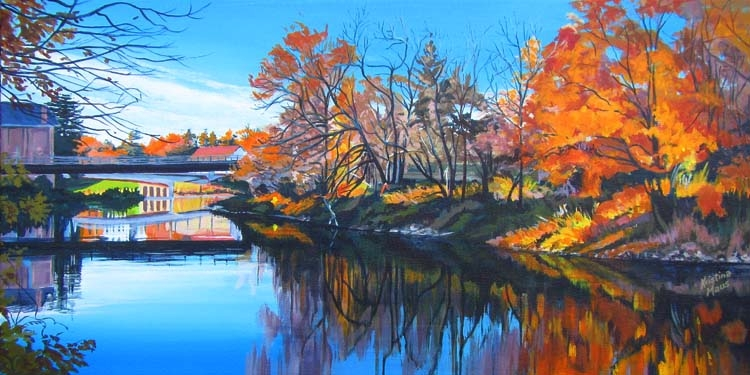 Archived Paintings - Reflections on the Paisley Saugeen, 12x24