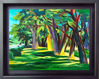 Archived Paintings - River Trees, 12x15