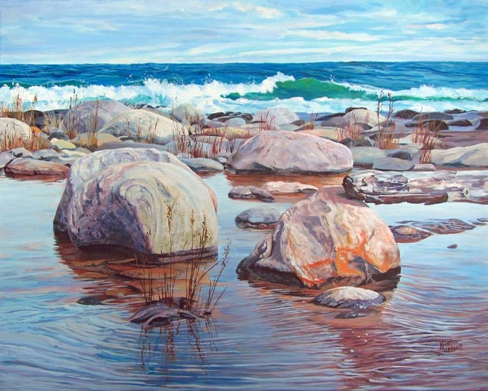 Archived Paintings - Rockin' On The Shoreline, 24x30
