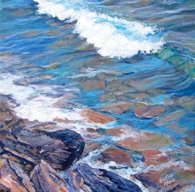 Archived Paintings - Rush Cove Diagonals, 12x12