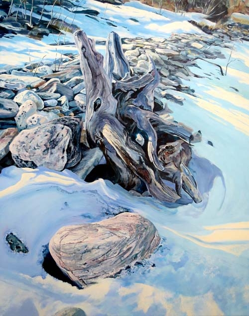 Archived Paintings - Shoreline Warming, Cape Chin, 24x30