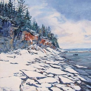 Archived Paintings - Stepping Stones, Rush Cove, 12x12