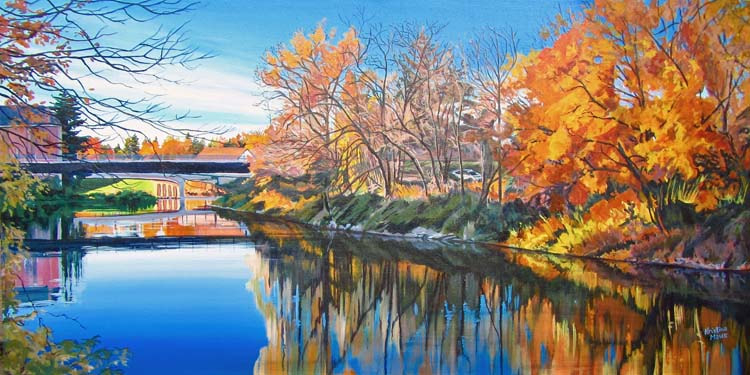 Archived Paintings - Still Saugeen, 18x36