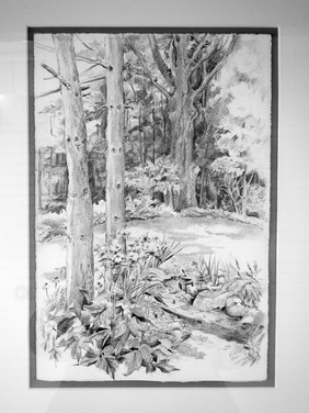 Landscapes & Still Life - Summer Garden, 8x12, framed 14x18, $275