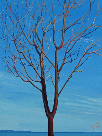 Archived Paintings -The Tuning Fork Tree, 12x16