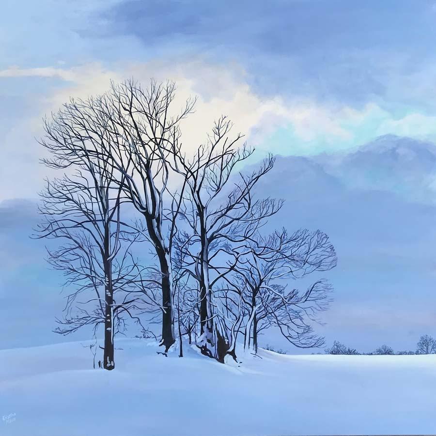 Available Acrylics - Twilight Blues, 36x36, $1530, Paint Ontario 2021