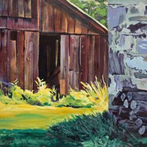 Available Acrylics - Where the Light Falls, 12x12, Acrylic on Wood Panel, $150