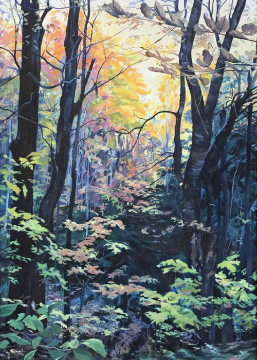 Journey Into The Woods, 24x36, Sold